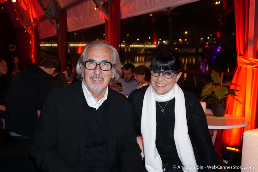 Robert Barnouin et son épouse Monique, lors d'une très festive soirée à La Plateforme - Nuits Lumière - Festival Lumière 2016 - Lyon - Photo © Anik Couble
