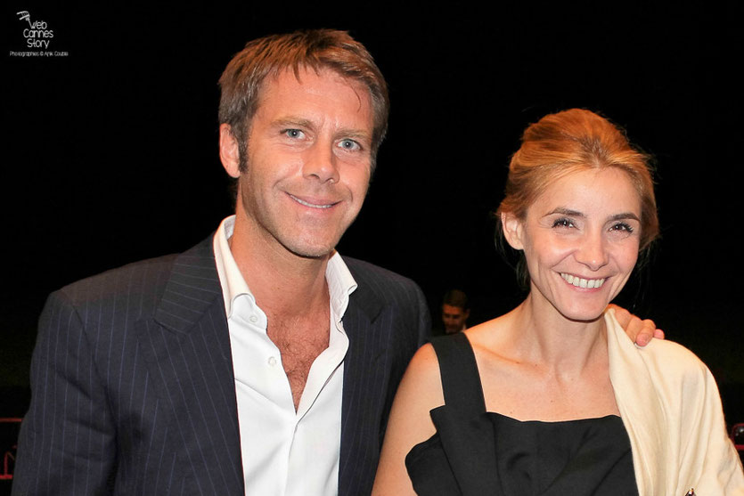 "Clotilde Courau, actrice et princesse de Savoie et son époux, le prince Emmanuel-Philibert de Savoie, dans le public, lors de la projection du film "" l'Apollonide "" de Bertrand Bonello - Festival de Cannes 2011 - Photo © Anik Couble"