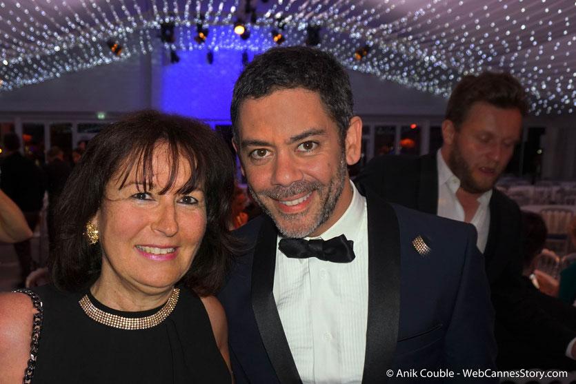 Ma sympathique rencontre avec Manu Payet, à l'issue de la projection du film de Asghar Farhadi - Todos lo saben (Everybody Knows), présenté en ouverture du Festival de Cannes 2018 - Photo © Anik Couble