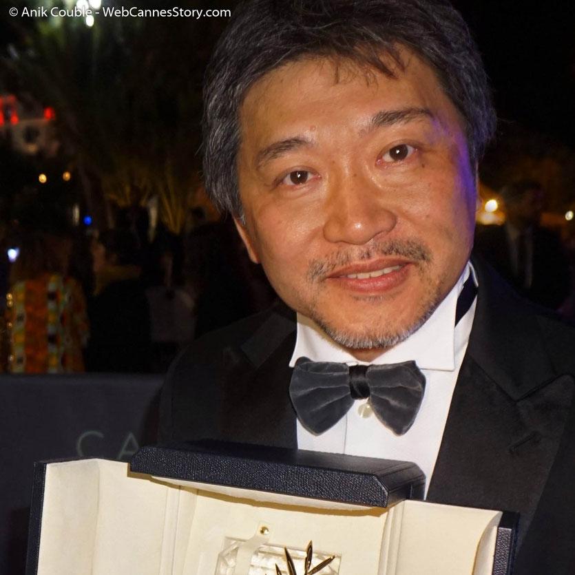 Hirokazu Kore-eda, réalisateur japonais - Palme d'or, pour son film, Une affaire de famille - Festival de Cannes 2018 - Photo © Anik Couble