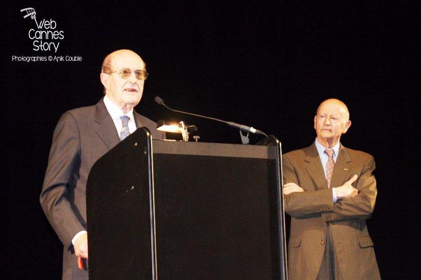 Gilles Jacob, lors de l'hommage à Manuel de Olivera - Festival de Cannes 2008 - Photo © Anik COUBLE