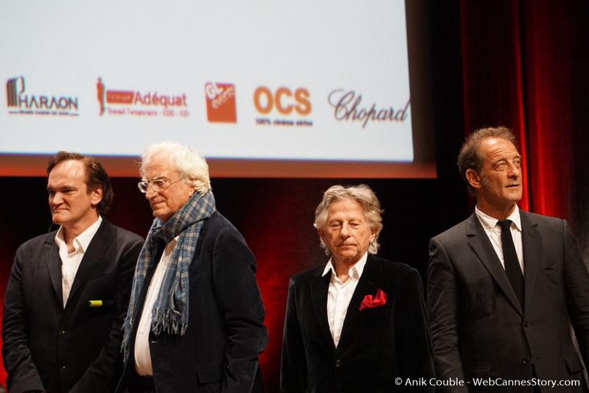 Quentin Tarantino, Bertrand Tavenrier, Roman Polanski et Vincent Lindon - Cérémonie de remise du Prix Lumière - Amphitheâtre 3000 - Lyon - Oct 2016  - Photo © Anik Couble