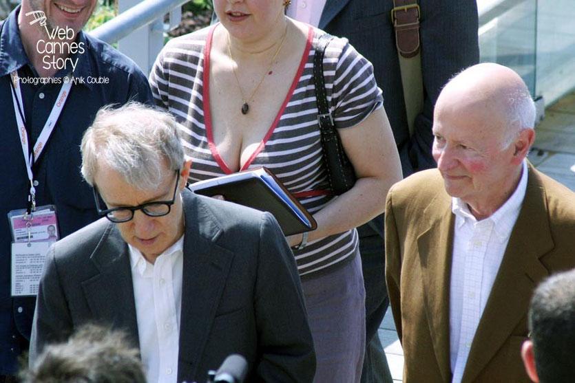 Gilles Jacob et Woody Allen - Festival de Cannes 2005 - Photo © Anik COUBLE