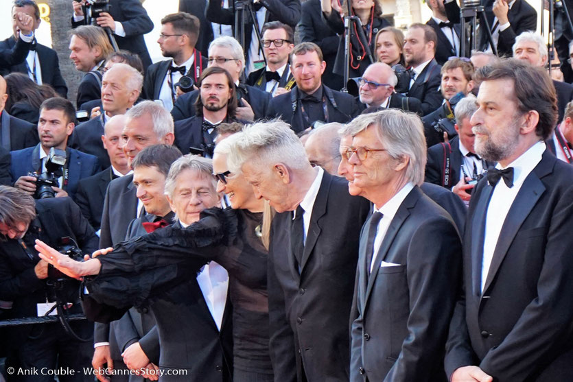 Laurent Cantet, Cristian Mangiu, Roman Polanski, Jerry Schatzberg, Jane Campion, David Lynch, Claude Lelouch, Bille August et Nanni Moretti - Red Carpet - Cérémonie des 70 ans du Festival de Cannes - Festival de Cannes 2017 - Photo © Anik Couble