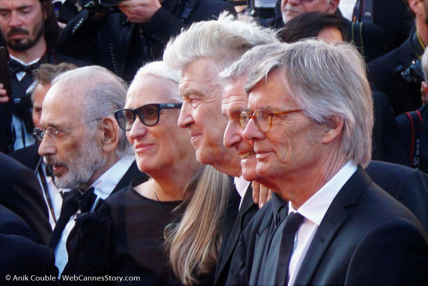 Jerry Schatzberg, Jane Campion, David Lynch, Claude Lelouch et Bille August - Red Carpet - Cérémonie des 70 ans du Festival de Cannes - Festival de Cannes 2017 - Photo © Anik Couble