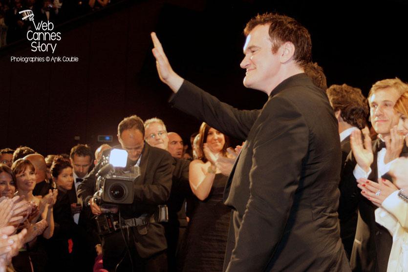 """Quentin Tarantino, lors de la projection du film """"Inglorious Basterds"""" - Festival de Cannes - 2009 - Photo © Anik COUBLE"""