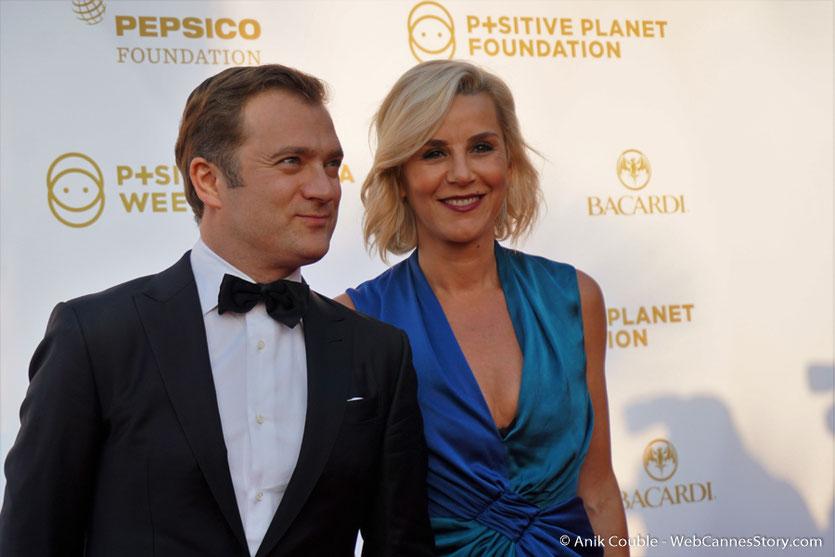 Laurence Ferrari et son mari  Renaud Capuçon, lors du dîner de gala de la Fondation Positive Planet et de la remise des prix de la Positive Cinema Week 2017 - Festival de Cannes 2017 - Photo © Anik Couble