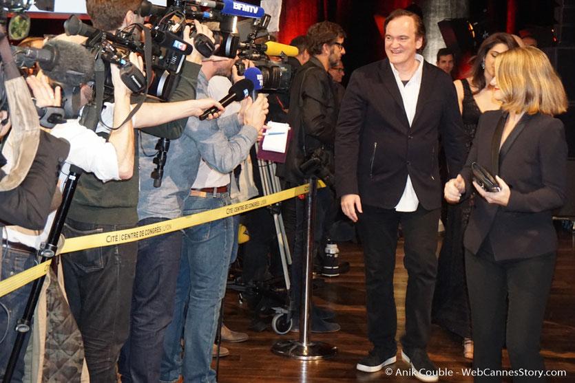 Arrivée de Quentin Tarantino à la cérémonie de remise du Prix Lumière - Amphitheâtre 3000 - Lyon - Oct 2016  - Photo © Anik Couble