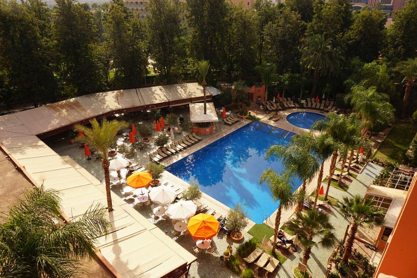 Hôtel Andalous -  Chambre avec vue  sur piscine et jardin  - Marrakech  2015 - Photo © Anik Couble