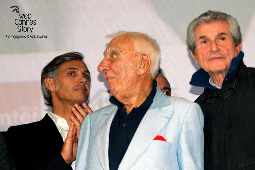 Paul Belmondo, Charles Gérard et Claude Lelouch  - Festival Lumière - Lyon - Oct 2013 - Photo © Anik COUBLE