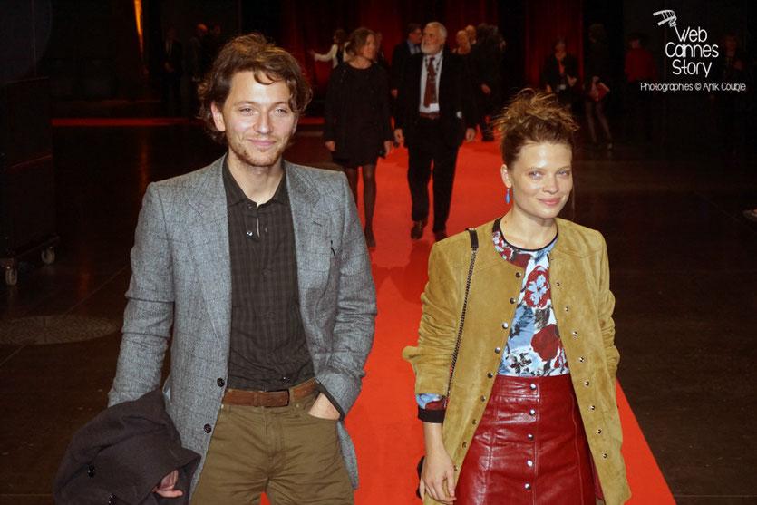 Raphaël et sa compagne Mélanie Thierry, lors de la cérémonie d'ouverture du Festival Lumière 2015 - Lyon - Photo © Anik COUBLE