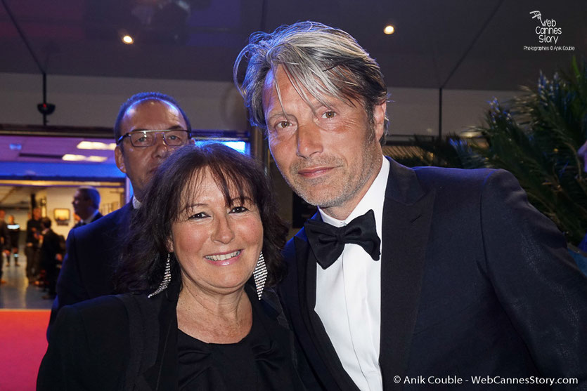Anik Couble, en compagnie de Mads Mikkelsen, membre du Jury - Festival de Cannes 2016 - Photo © Anik Couble