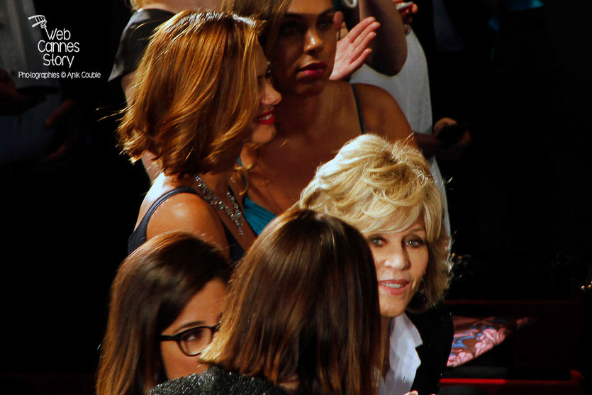 "Jane Fonda, lors la projection du film ""The sea of trees"" de Gus Van Sant - Festival de Cannes 2015 - Photo © Anik COUBLE"