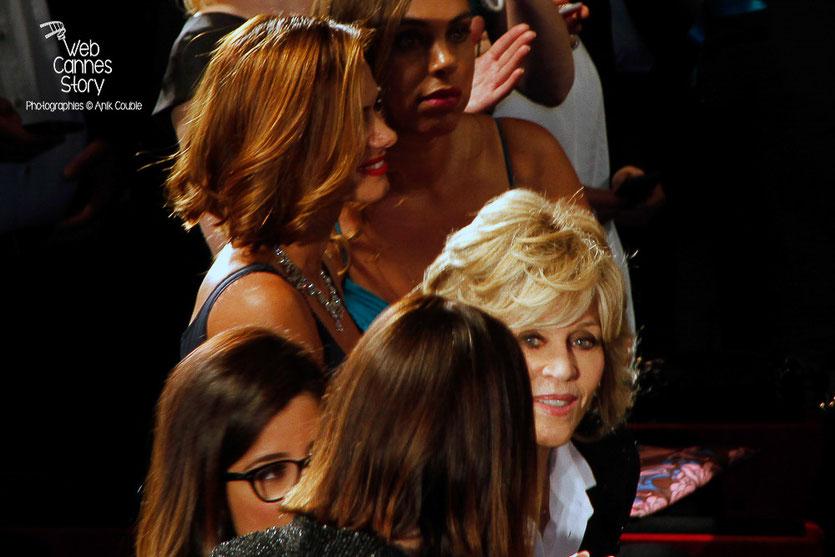 """Jane Fonda, lors la projection du film """"The sea of trees"""" de Gus Van Sant - Festival de Cannes 2015 - Photo © Anik COUBLE"""