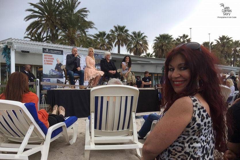 Esméralda Petit Benito, lors de la  Conférence de Presse de l'Association Sea Shepherd, en marge du  Festival de Cannes 2016 - Photo © Anik Couble