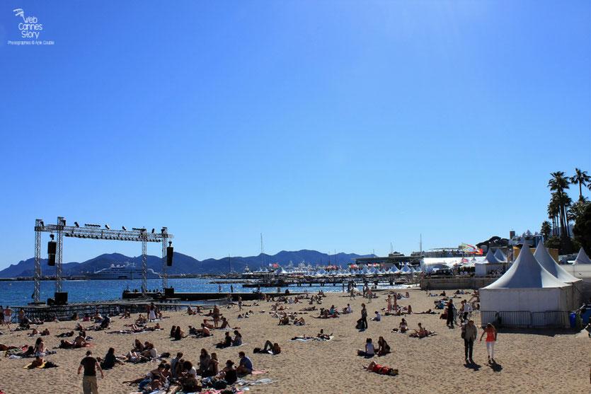 Les plages de Cannes - Festival de Cannes 2011 - Photo © Anik Couble