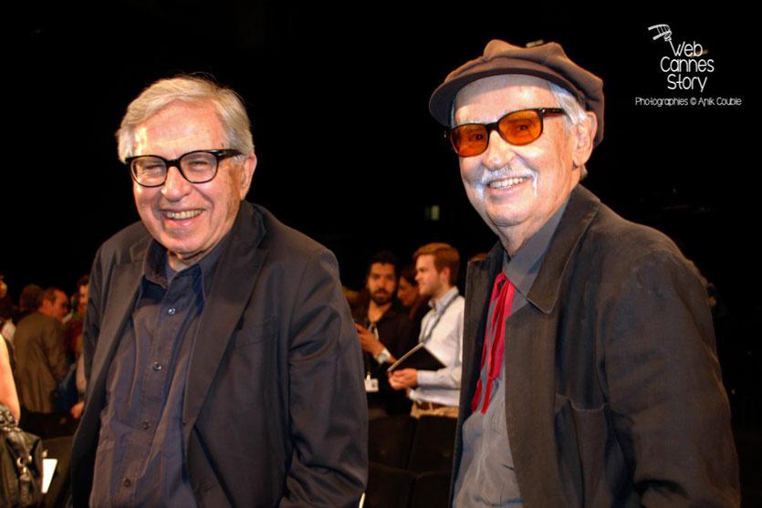 Vittorio et Paolo Taviani, lors de l'hommage aux frères Lumière - Festival de Cannes 2015 - Photo © Anik COUBLE