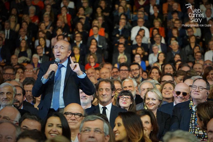 Gérard Collomb, lors de la cérémonie d'ouverture du Festival Lumière 2015 - Lyon - Photo © Anik COUBLE