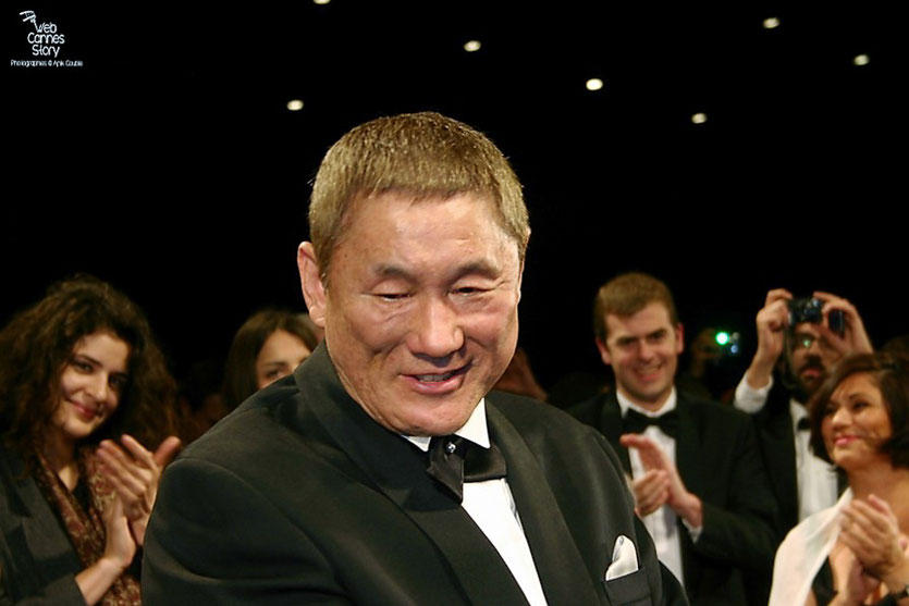"Takeshi Kitano, lors de la projection de son  film ""Outrage"" - Festival de Cannes 2010 - Photo © Anik Couble"