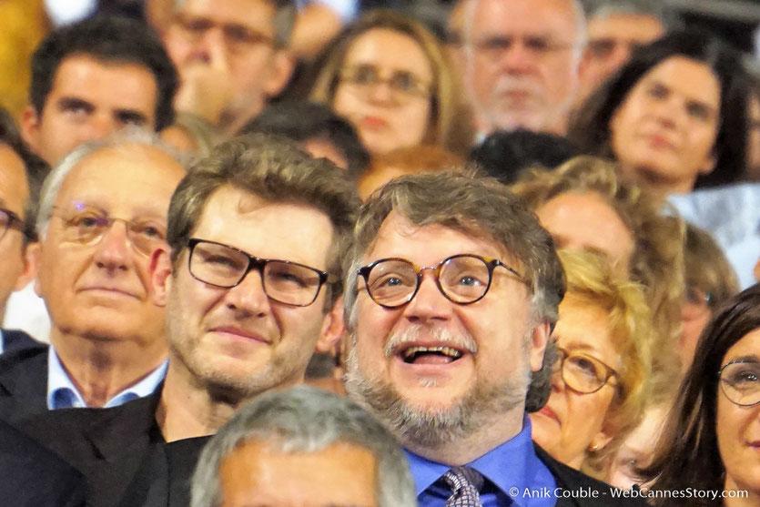 Guillermo del Toro, au milieu du public,  lors de la cérémonie d'ouverture du Festival Lumière 2017 - Lyon - Photo © Anik Couble