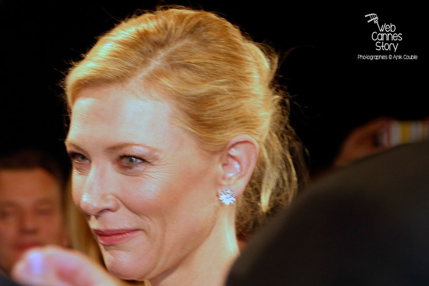 "Cate Blanchett lors de la projection de ""Carol""de Todd Haynes -  Festival de Cannes 2015 - Photo © Anik COUBLE"