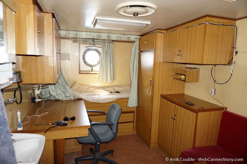 """Une cabine du """"Sam Simon"""",  l'un des bateaux de la fondation Sea Shepherd - Festival de Cannes 2016 - Photo © Anik Couble"""