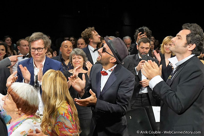"Agnès Varda et JR, lors de la projection de leur film documentaire ""Visages Villages"" - Festival de Cannes 2017 - Photo © Anik Couble"