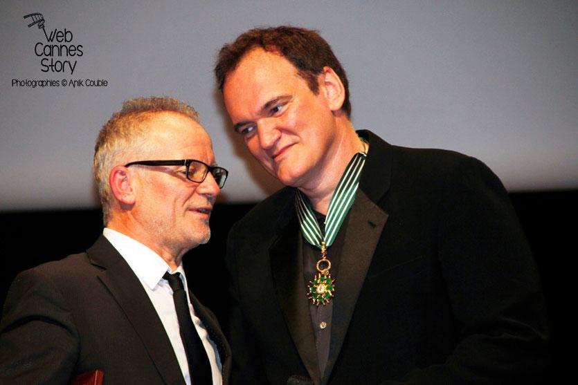 Quentin Tarantino et Thierry Fremaux, lors de la Remise du Prix Lumière - Festival Lumière - Lyon - Oct 2013 - Photo © Anik COUBLE