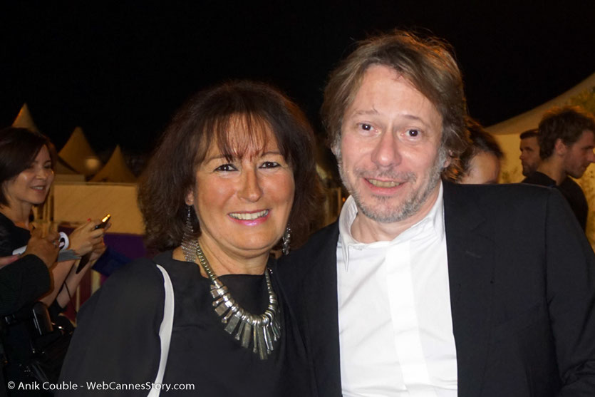 En compagnie de Mathieu Amalric - Festival de Cannes 2017 - Photo © Anik Couble