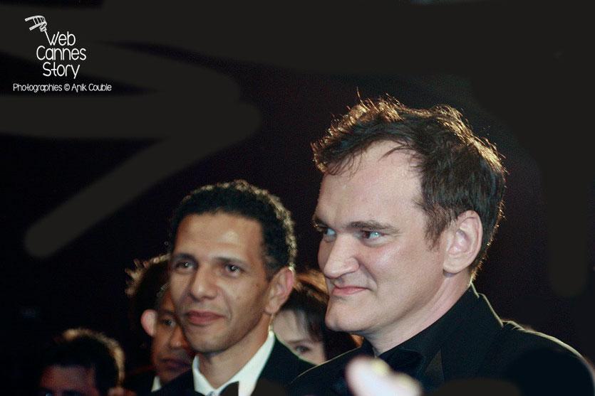 """Quentin Tarantino et Roschdy Zem, lors de la projectiondu film """"Un Prophète"""" de Jacques Audiard - Festival de Cannes - 2009 - Photo © Anik COUBLE"""