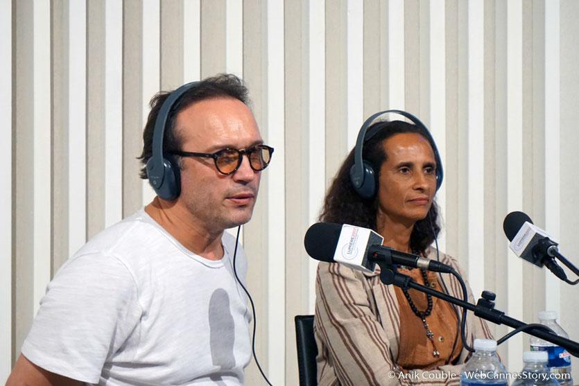 """Vincent Perez et Karine Silla,  invités  de """"La Grande Emission"""" de Radio Lumière - Festival Lumière 2017 - Lyon - Photo © Anik Couble"""
