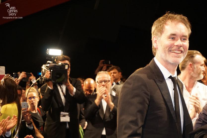 """Jean-François Richet, lors de la projection de son film """"Blood Father"""" avec Mel Gibson, Erin Moriarty et Diego Luna - Festival de Cannes 2016 - Photo © Anik Couble"""