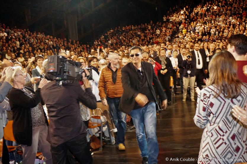 Wong Kar-Wai, au milieu du public - Clôture du Festival Lumière 2017 - Halle  Tony Garnier de Lyon - Photo © Anik Couble