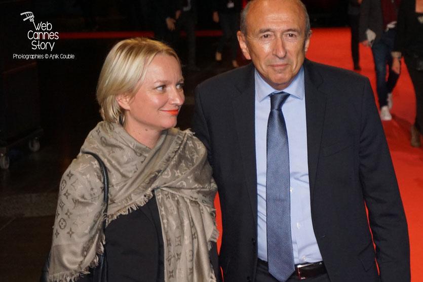 Gérard Collomb et son épouse Caroline, lors de l'ouverture du Festival  Lumière 2015 - Lyon - Photo © Anik COUBLE