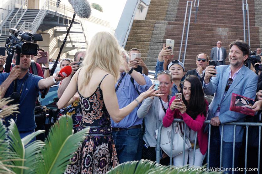 Arrivée de Nicole Kidman, au Palais des Festivals, pour assister à la cérémonie des 70 ans du Festival de Cannes - Festival de Cannes 2017 - Photo © Anik Couble