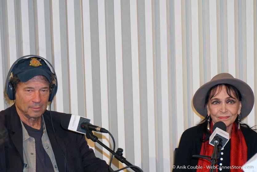 """Anna Karina et Dennis Berry,  invités de """"La Grande Emission"""" de Radio Lumière - Festival Lumière 2017 - Lyon - Photo © Anik Couble"""
