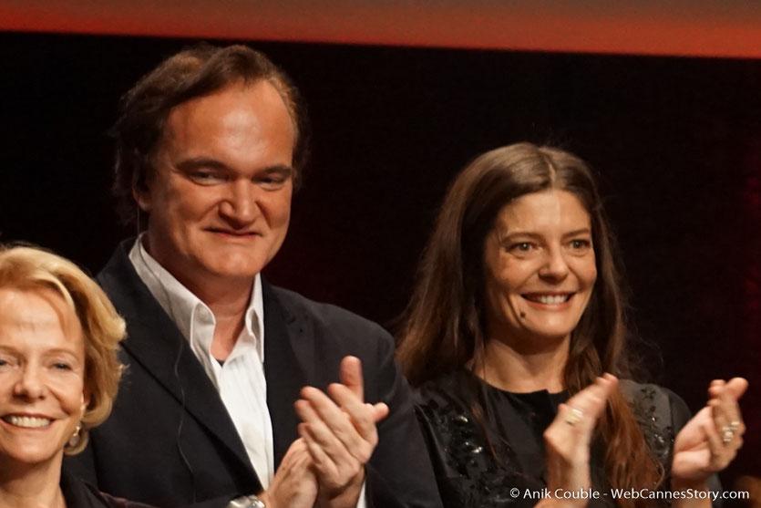 Quentin Tarantino et Chiara Mastroïanni - Cérémonie de remise du Prix Lumière - Amphitheâtre 3000 - Lyon - Oct 2016  - Photo © Anik Couble
