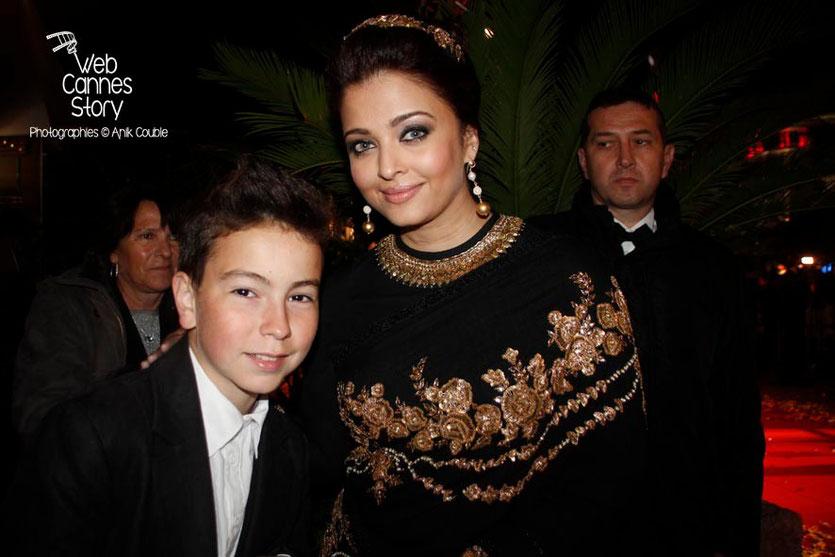 Alan Badaoui - Couble et l'actrice Aishwarya Rai, Egérie de L'Oréal Paris - Festival de Cannes 2013 - Photo © Anik COUBLE