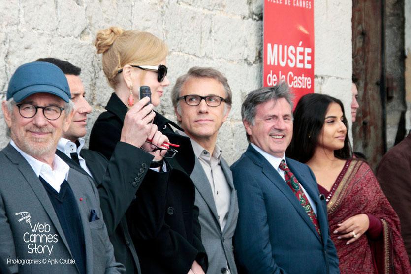 Steven Spielberg, Nicole Kidman, Christopher Waltz, Daniel Auteuil et Vidya Balan - Festival de Cannes 2013 - Photo © Anik COUBLE