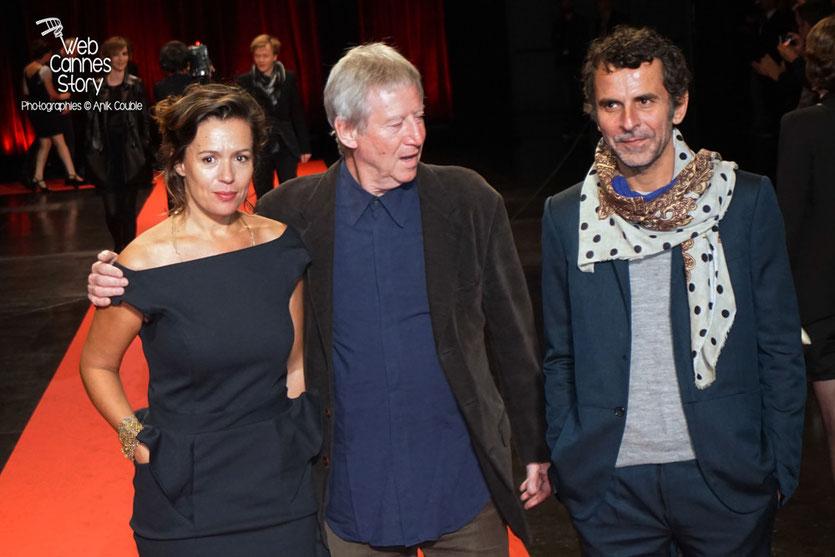 Régis Varnier, son épouse et Eric Lartigau, lors de la cérémonie d'ouverture du Festival Lumière 2015 - Lyon - Photo © Anik COUBLE