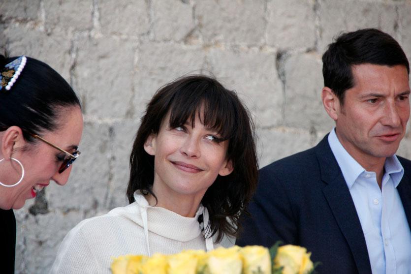 Rossy DE PALMA, Sophie MARCEAU, membres du Jury et David LISNARD, maire de Cannes, lors du traditionnel déjeuner de presse - Festival de Cannes 2015 - Photo © Anik COUBLE
