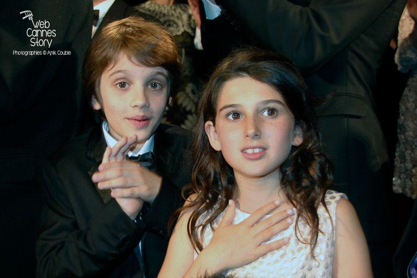 """Les jeunes acteurs,  lors la projection de son film """"Marguerite et Julien""""  -  Festival de Cannes 2015 - Photo © Anik COUBLE"""