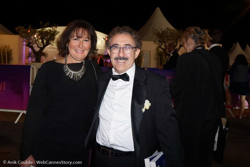 En compagnie de Ferid Boughedir, réalisateur tunisien - Festival de Cannes 2017 - Photo © Anik Couble