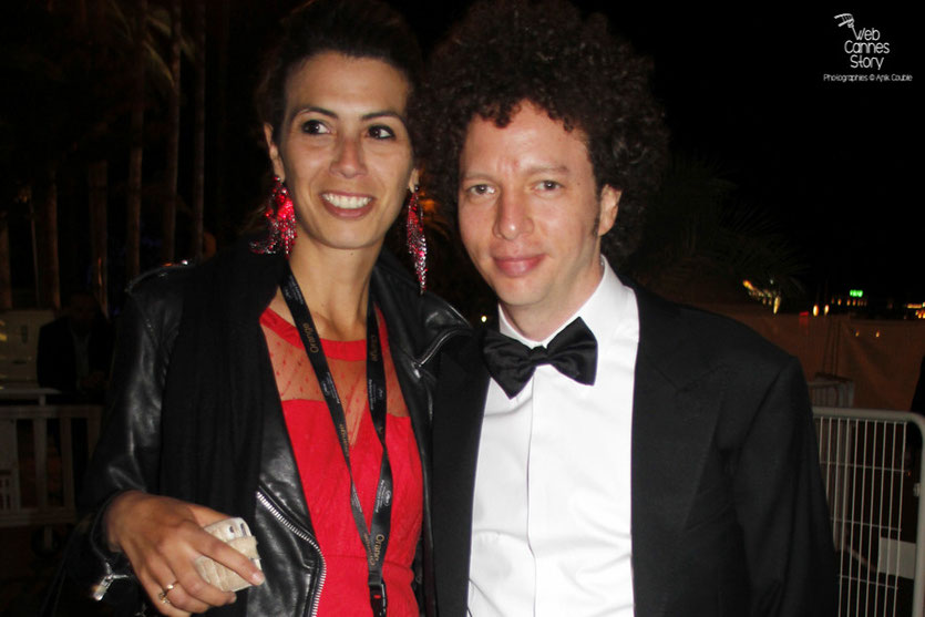 Michel Franco, en compagnie de Maya Meddeb - Festival de Cannes 2015 - Photo © Anik Couble
