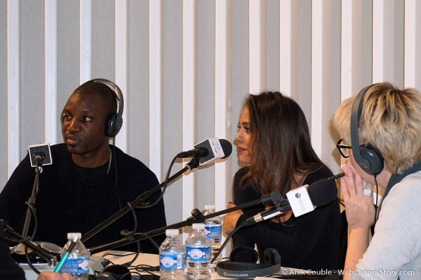 """Abd Al Malik, Alice Belaïdi et Mary-Noëlle Dana,  à  """"La Grande Emission"""" de Radio Lumière - Festival Lumière 2016 - Lyon - Photo © Anik Couble"""