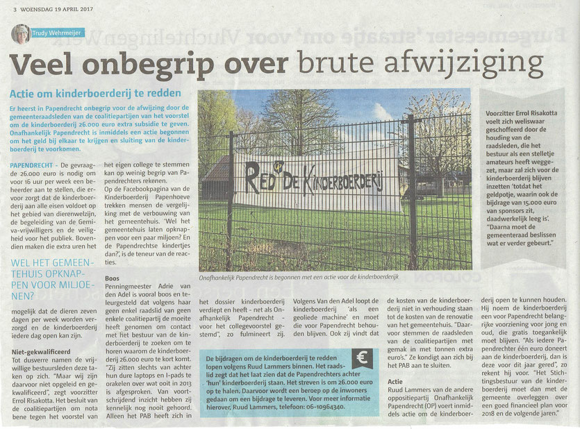 Papendrechts Nieuwsblad 19 april 2017