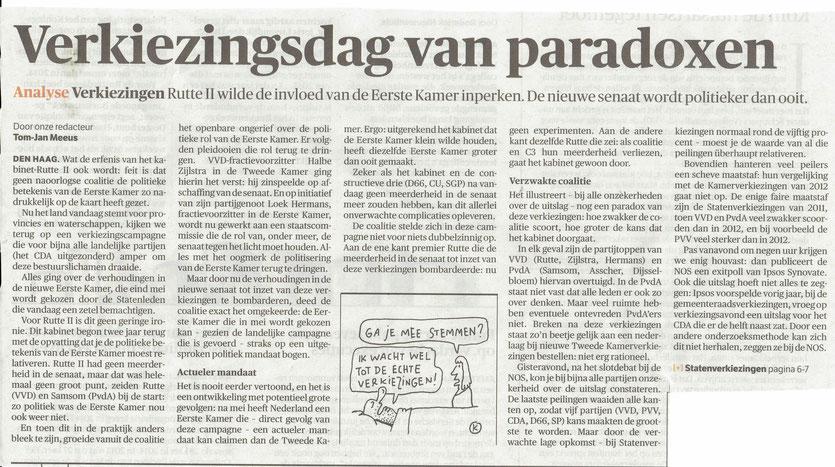 NRC Handelsblad 18 maart 2015