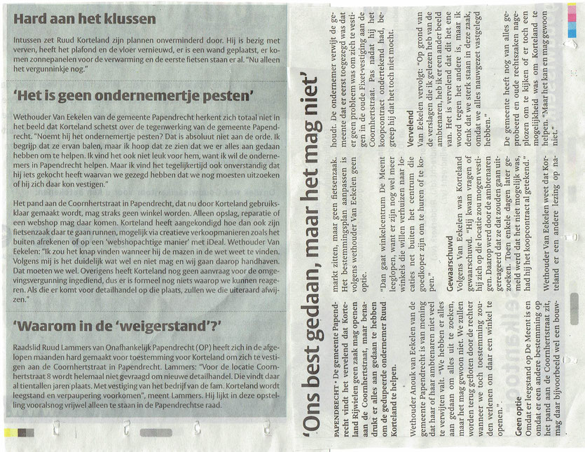 Artikel in de Klaroen van 19 april 2017