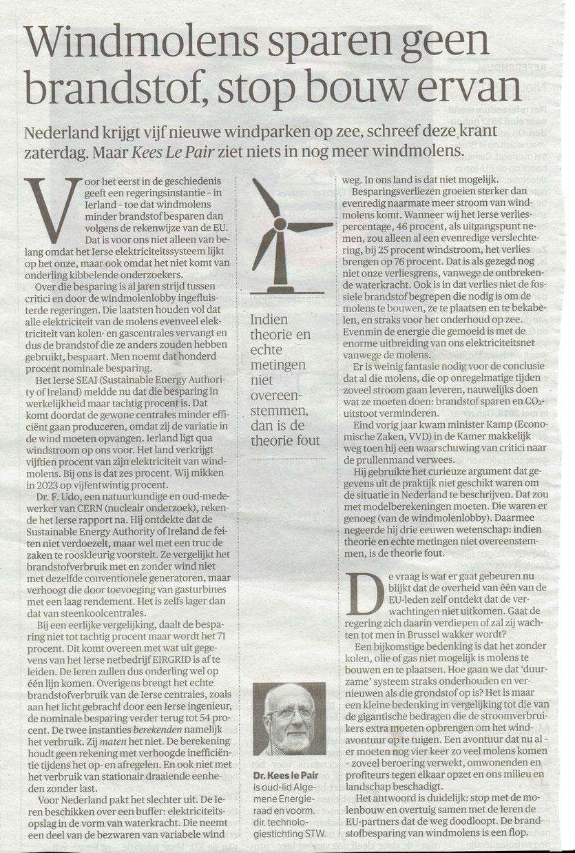Artikel NRC Handelsblad 7 oktober 2015 Opinie