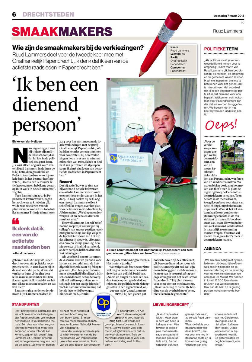 Publicatie: Algemeen Dagblad 07 maart 2018